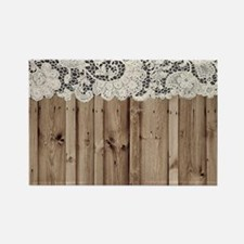 barnwood white lace country Magnets