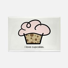 i love cupcakes Rectangle Magnet