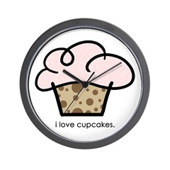 i love cupcakes Wall Clock