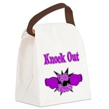 Knock Out Cystic Fibrosis purple Canvas Lunch Bag
