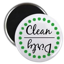 Green Clean Dirty Dishwasher Magnet Magnets
