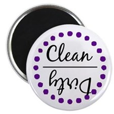 Purple Clean Dirty Dishwasher Magnet Magnets