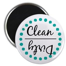 Teal Green Clean Dirty Dishwasher Magnet Magnets