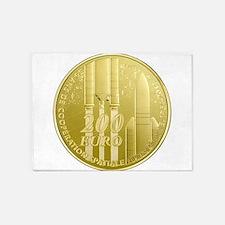 Commemorative ESA Euro coin 5'x7'Area Rug
