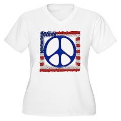 Tattered Flag of Peace T-Shirt