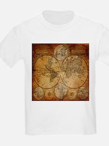 voyage compass vintage world map T-Shirt