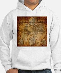 voyage compass vintage world map Hoodie