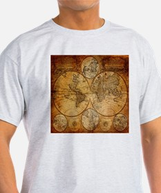 voyage compass vintage world map T-Shirt