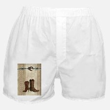 cowboy boots western country Boxer Shorts