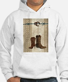 cowboy boots western country Hoodie