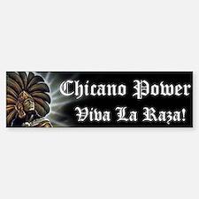 "SoyChicano ""Chicano Power"" Bumper Bumper Bumper Sticker"