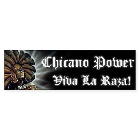 """SoyChicano """"Chicano Power"""" Bumper Sticker"""