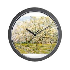 Van Gogh The White Orchard Wall Clock