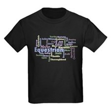Equestrian Word Cloud T-Shirt