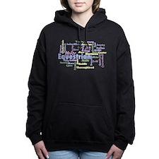 Equestrian Word Cloud Women's Hooded Sweatshirt