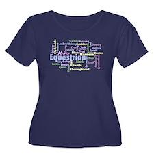 Equestrian Word Cloud Plus Size T-Shirt