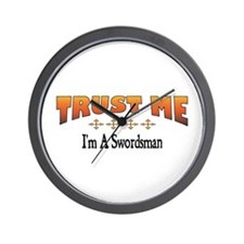 Trust Swordsman Wall Clock