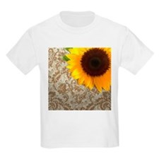 damask sunflower country decor T-Shirt