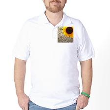 damask sunflower country decor T-Shirt