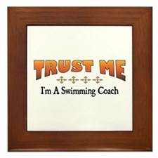 Trust Swimming Coach Framed Tile