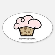 i love cupcakes Oval Decal