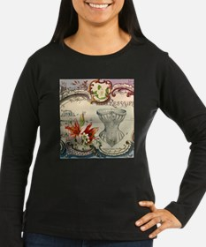 victorian lily vintage corset Long Sleeve T-Shirt
