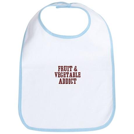 fruit & vegetable addict Bib