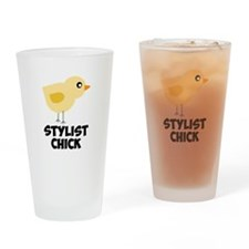 Stylist Chick Drinking Glass