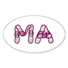 MA (Bandage logo) Oval Decal