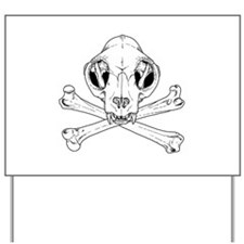 Cat Jolly Roger Yard Sign