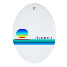 Amaya Oval Ornament