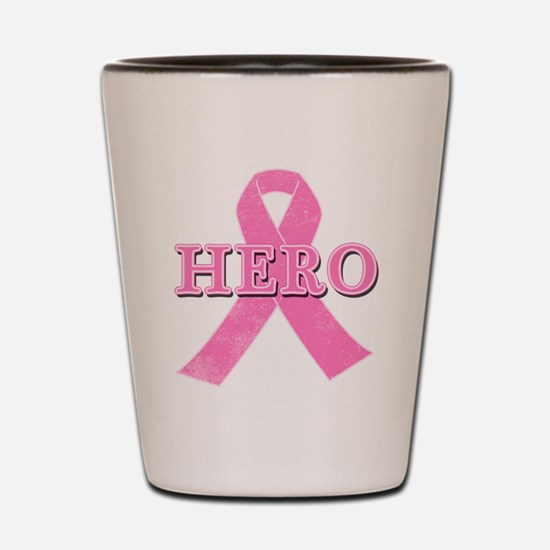 HERO with Pink Ribbon Shot Glass