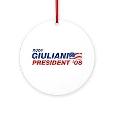 Rudy Giuliani for President Ornament (Round)