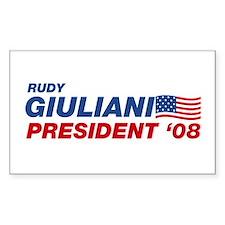 Rudy Giuliani for President Rectangle Decal