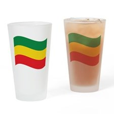 Green, Gold and Red Flag Drinking Glass