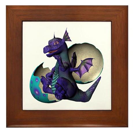 Little Dragon Framed Tile