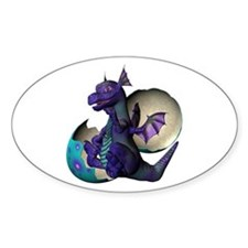 Little Dragon Oval Decal