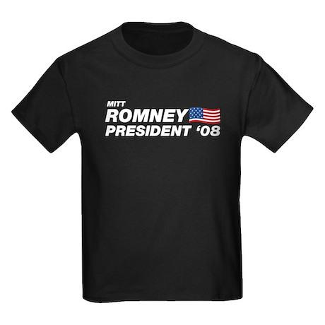 Mitt Romney for President Kids Dark T-Shirt