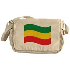 Green, Gold and Red Flag Messenger Bag