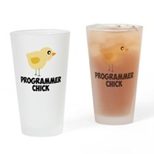 Programmer Chick Drinking Glass