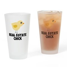 Real Estate Chick Drinking Glass