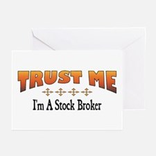 Trust Stock Broker Greeting Cards (Pk of 10)