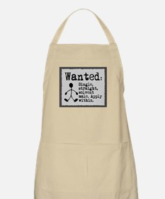 BBQ Apron. Wanted: Single male.