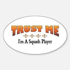 Trust Squash Player Oval Decal