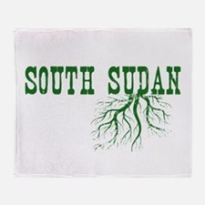 South Sudan Roots Throw Blanket