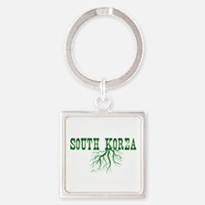 South Korea Roots Square Keychain