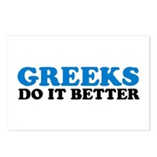 Greeks Do It Better Postcards (Package of 8)