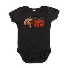 Yia-Yia Thankful For Me Baby Bodysuit