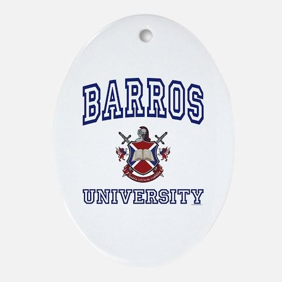 BARROS University Oval Ornament