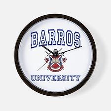 BARROS University Wall Clock